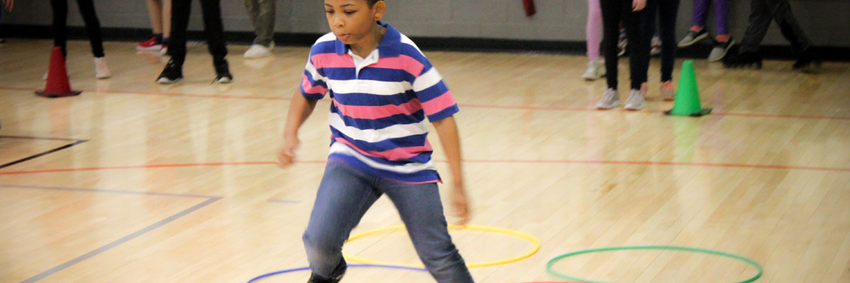 KidzFit playing in gym photograph